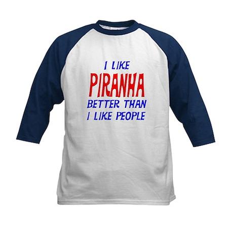I Like Piranha Kids Baseball Jersey