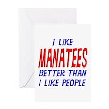 I Like Manatees Greeting Card