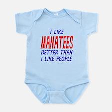 I Like Manatees Infant Bodysuit
