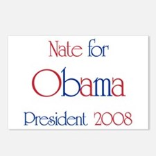 Nate for Obama 2008  Postcards (Package of 8)