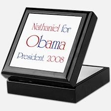Nathaniel for Obama 2008  Keepsake Box