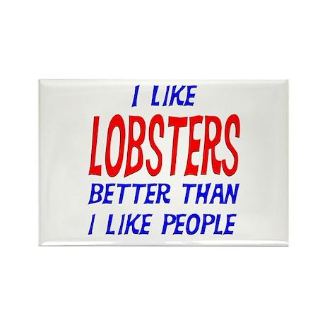 I Like Lobsters Rectangle Magnet