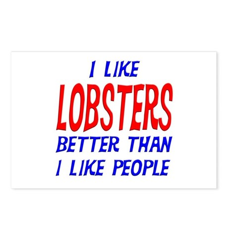 I Like Lobsters Postcards (Package of 8)