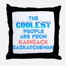 Coolest: Kamsack, SK Throw Pillow