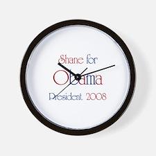 Shane for Obama 2008 Wall Clock