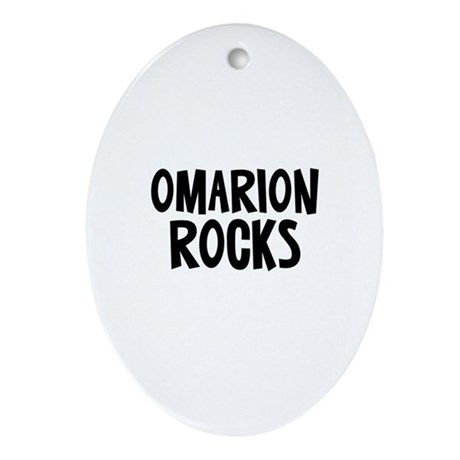 Omarion Rocks Oval Ornament