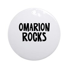 Omarion Rocks Ornament (Round)