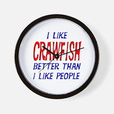 I Like Crawfish Wall Clock