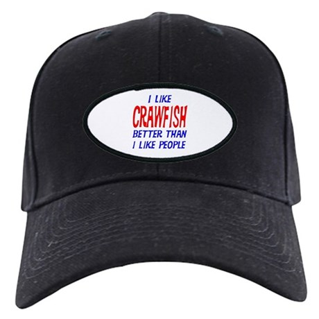 I Like Crawfish Black Cap
