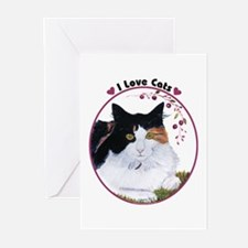 I love cats Greeting Cards (Pk of 10)