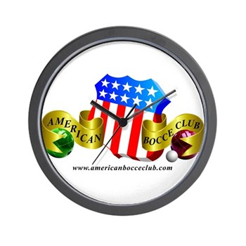 Official American Bocce Club Wall Clock