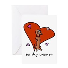Wiener Dog Valentine Greeting Card