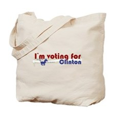 Voting Clinton Tote Bag