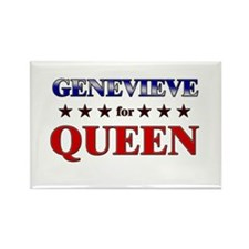 GENEVIEVE for queen Rectangle Magnet