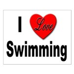 I Love Swimming Small Poster