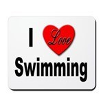 I Love Swimming Mousepad