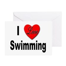 I Love Swimming Greeting Cards (Pk of 10)