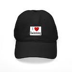I Love Swimming Black Cap