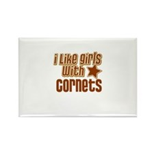 I Like Girls with Cornets Rectangle Magnet