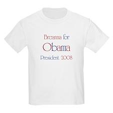 Breanna for Obama 2008 T-Shirt