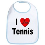 I Love Tennis Bib