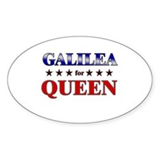 GALILEA for queen Oval Decal
