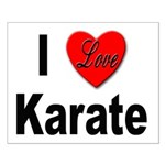 I Love Karate Small Poster