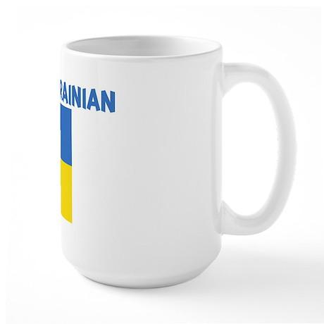 KISS ME I AM UKRAINIAN Large Mug