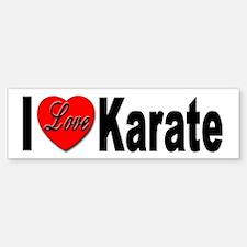 I Love Karate Bumper Bumper Bumper Sticker