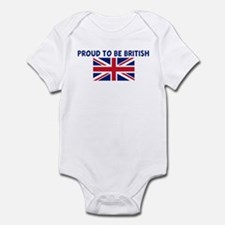 PROUD TO BE BRITISH Infant Bodysuit