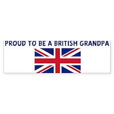 PROUD TO BE A BRITISH GRANDPA Bumper Bumper Sticker
