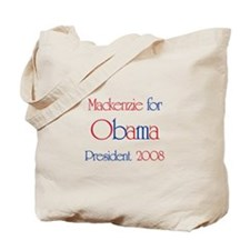 Mackenzie for Obama 2008 Tote Bag