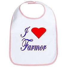 I Love Farmor Bib