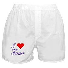 I Love Farmor Boxer Shorts