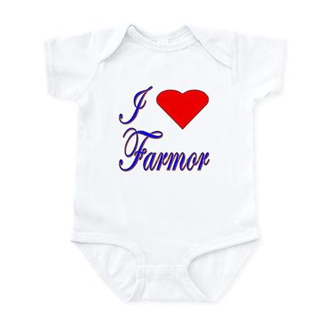I Love Farmor Infant Creeper