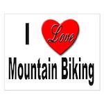 I Love Mountain Biking Small Poster