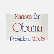 Marissa for Obama 2008 Rectangle Magnet