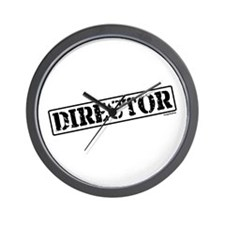Director Stamp Wall Clock