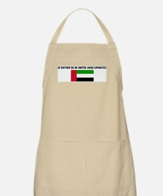ID RATHER BE IN UNITED ARAB E BBQ Apron