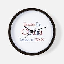 Rowan for Obama 2008 Wall Clock