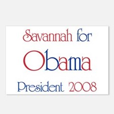 Savannah for Obama 2008 Postcards (Package of 8)