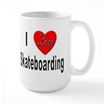 I Love Skateboarding Large Mug