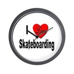 I Love Skateboarding Wall Clock