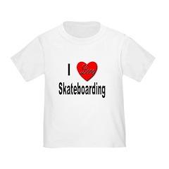 I Love Skateboarding (Front) T