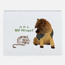 Cairn Terrier with Rat Wall Calendar