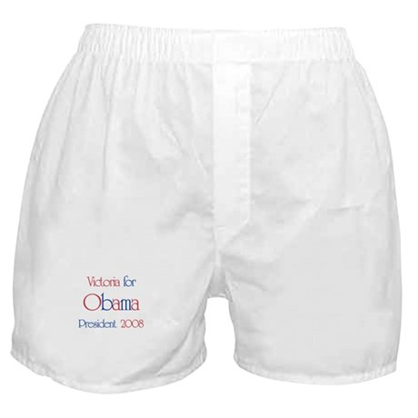 Victoria for Obama 2008 Boxer Shorts