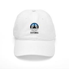 Peace In Estonia Baseball Cap