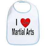 I Love Martial Arts Bib