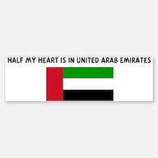 HALF MY HEART IS IN UNITED AR Bumper Bumper Bumper Sticker