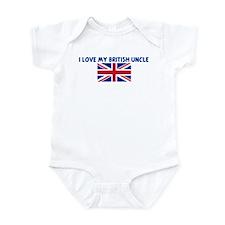 I LOVE MY BRITISH UNCLE Infant Bodysuit